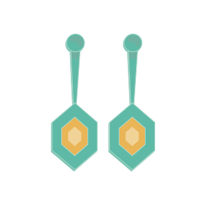 An illustration of a earrings