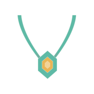 An illustration of a necklace